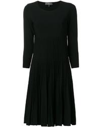 Robe plissée noire Salvatore Ferragamo