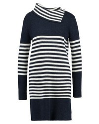 Robe-pull à rayures horizontales bleu marine Esprit