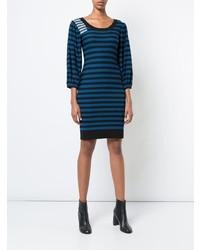 Robe-pull à rayures horizontales bleu marine Sonia Rykiel