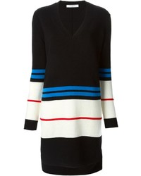 Robe-pull à rayures horizontales noire et blanche Givenchy
