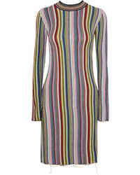 Robe-pull à rayures verticales multicolore MARQUES ALMEIDA