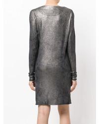 Robe-pull argentée Avant Toi