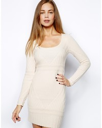Robe-pull beige French Connection