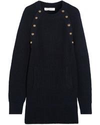 Robe-pull bleu marine Chloé