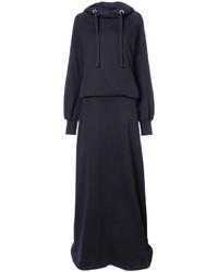 Robe-pull bleu marine Maison Margiela
