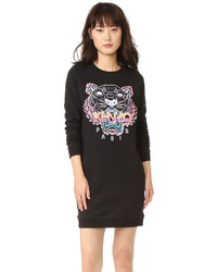 Robe-pull brodée noire Kenzo
