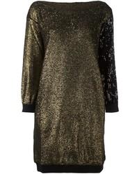 Robe-pull dorée