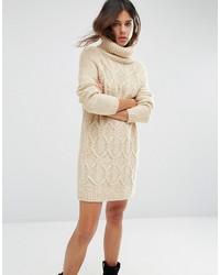 Robe-pull en tricot beige Asos