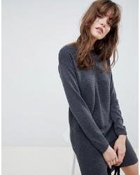 Robe-pull en tricot gris foncé ASOS DESIGN