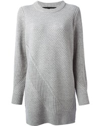 Robe-pull en tricot grise