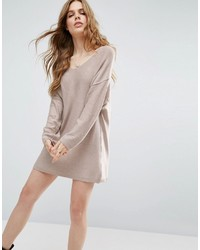 Robe-pull en tricot grise Asos