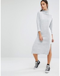 Robe-pull en tricot grise Boohoo