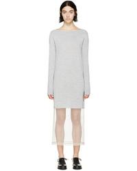 Robe-pull en tricot grise Maison Margiela