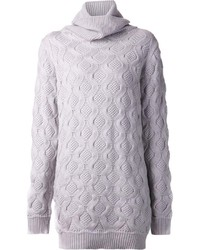Robe-pull en tricot grise Marc Jacobs