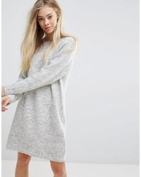 Robe-pull en tricot grise New Look