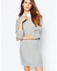 Robe-pull en tricot grise See by Chloe