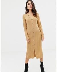 Robe-pull en tricot marron clair ASOS DESIGN