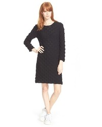 Robe-pull en tricot noire