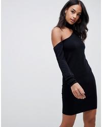 Robe-pull en tricot noire ASOS DESIGN