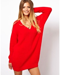 c638171d7e89 Robe-pull en tricot rouge Kenzo  Où acheter et comment porter