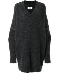 Robe-pull grise foncée MM6 MAISON MARGIELA
