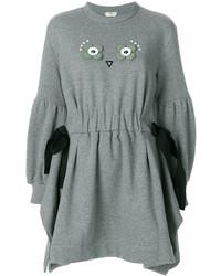 Robe-pull grise Fendi