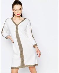 Robe-pull imprimée blanche Love Moschino