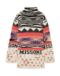 Robe-pull imprimée multicolore Missoni