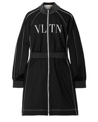 Robe-pull imprimée noire et blanche Valentino