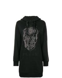 Robe-pull imprimée noire Philipp Plein