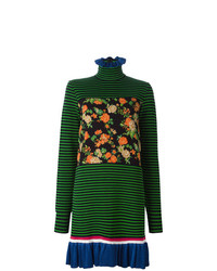 Robe-pull imprimée vert foncé MSGM
