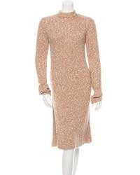 Robe-pull marron clair