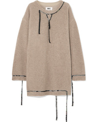 Robe-pull marron clair MM6 MAISON MARGIELA