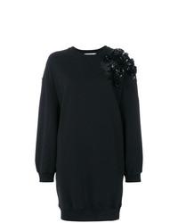 Robe-pull ornée noire MSGM