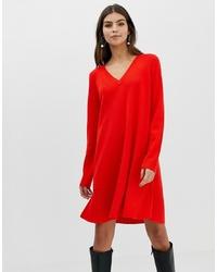 Robe-pull rouge ASOS DESIGN