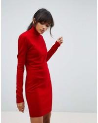 Robe-pull rouge Boohoo