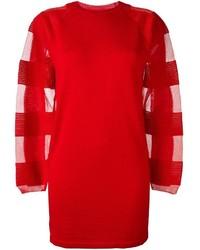 Robe-pull rouge MM6 MAISON MARGIELA