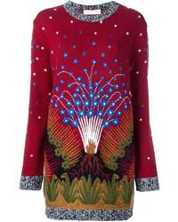 Robe-pull rouge Valentino