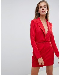 Robe smoking rouge Missguided