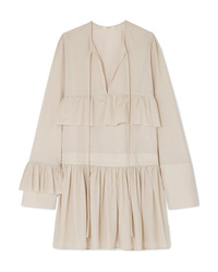 Robe style paysanne beige Matin