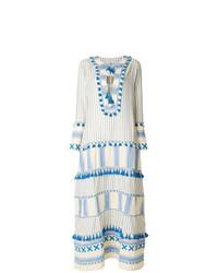 Robe style paysanne blanc et bleu Dodo Bar Or