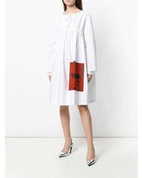 Robe style paysanne blanche Calvin Klein 205W39nyc