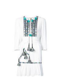 Robe style paysanne brodée blanche