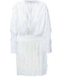 Robe style paysanne en crochet blanche Givenchy