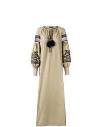 Robe style paysanne marron clair Wandering