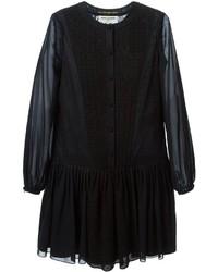 Robe style paysanne noire Saint Laurent