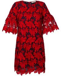 Robe texturée rouge Tory Burch