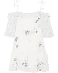 Robe trapèze à fleurs blanche See by Chloe