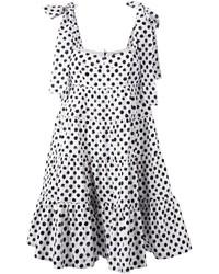 Robe trapèze á pois blanche et noire Dolce & Gabbana