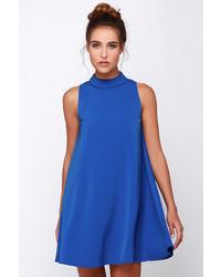 Robe trapèze bleue